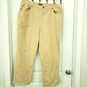 Lauren Jeans Company (RL) khaki pants sz 18w